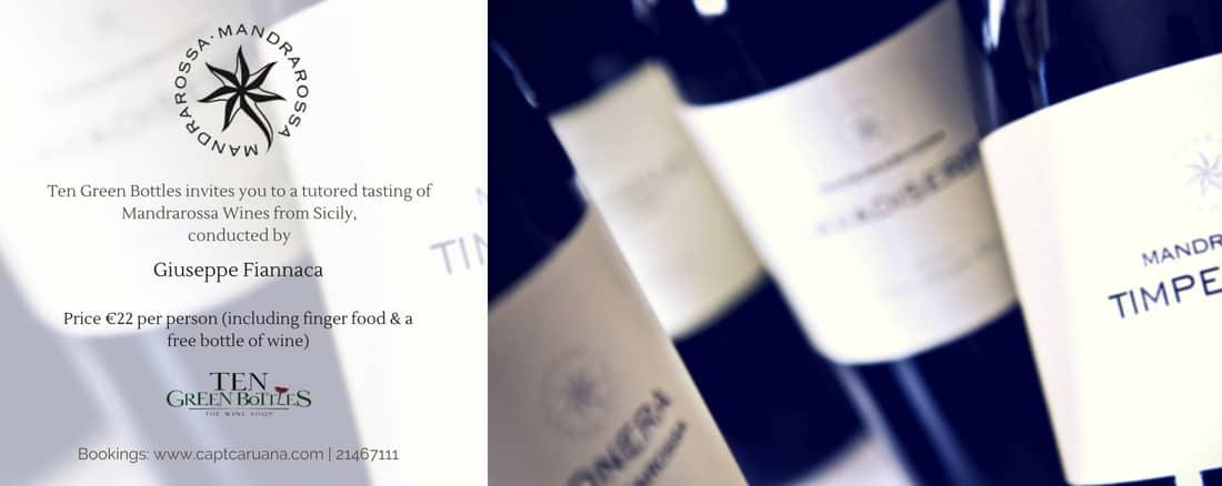 Mandrarossa Sicilian Wines Tasting May 2018