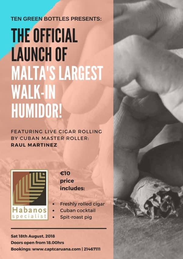 Raul Martinez TGB Humidor Launch Flyer Main