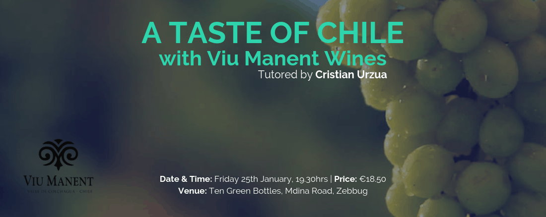 Viu Manent wine Tasting 25th January @730pm