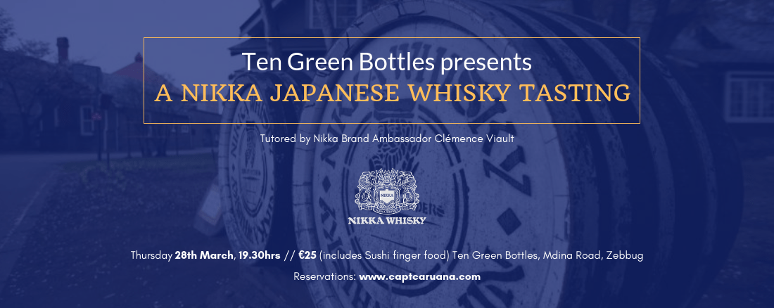 Nikka Whisky Tasting 28th March on 28/03/2019 @ 7:30pm