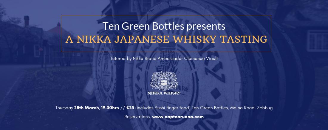 Nikka Whisky Tasting 28th March