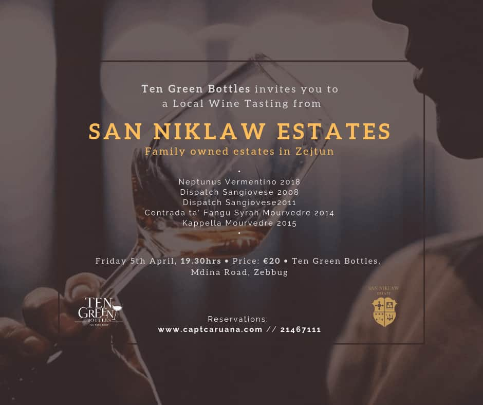 San Niklaw Estate wine tasting- 5th April