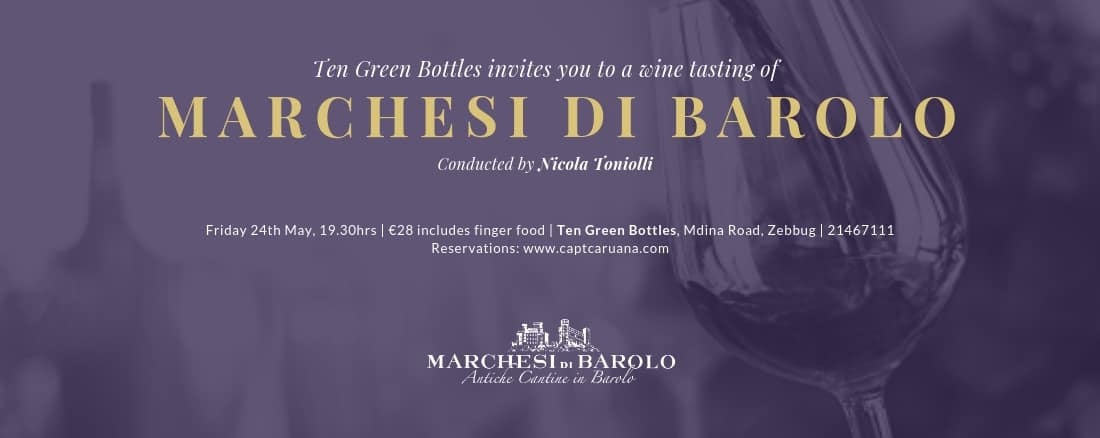 Marchesi Di Barolo Wine Tasting Event – 24th May on 24/05/2019 @ 7:30pm