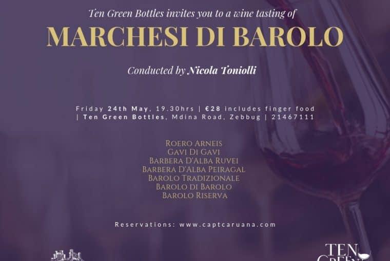 Marchesi Di Barolo wine event 24th May