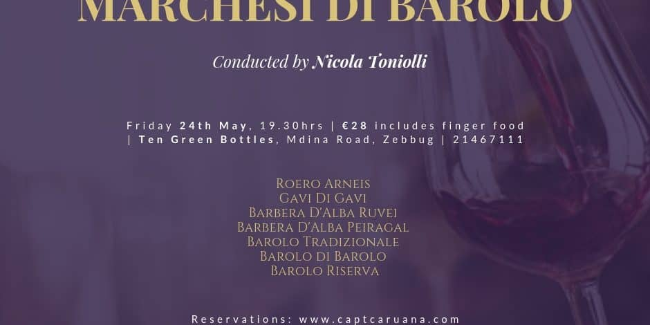 Marchesi Di Barolo wine event 24th May
