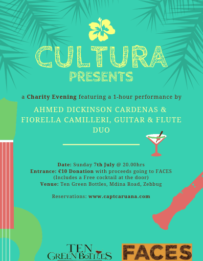 Cultura Charity event in aid of Faces 7th July