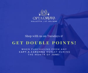 Tuesday June Special- double your points!
