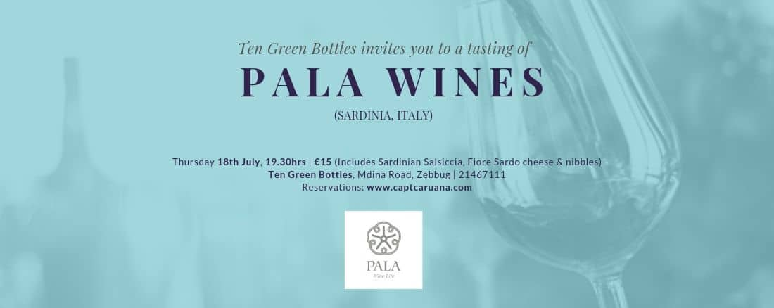 18th July Sardinian night with Pala wines on 18/07/2019 @ 7:30pm
