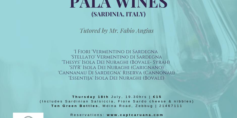 18th July Sardinian Night with Pala wines