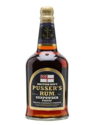 Pusser's British Navy Gunpowder Proof Rum 54.5%