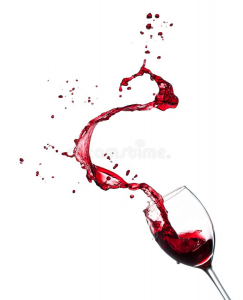 red wine splashing glass isolated white background high resolution image red wine splashing glass white background 113478761