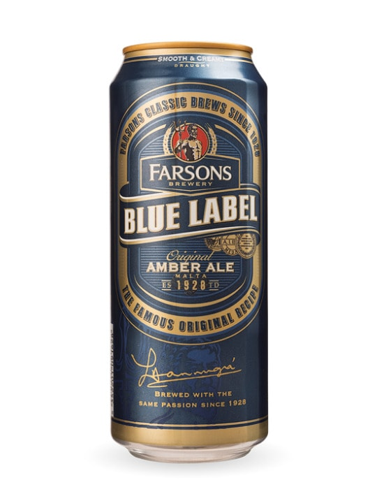cisk blue label amber ale can 44cl