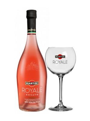 Martini Royale Rosato + Glass 75cl
