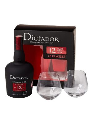 Dictador Rum 12 Year Old 70cl + Glass Gift Pack
