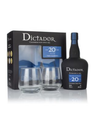 Dictador Rum 20 Year Old + Glass Gift Pack