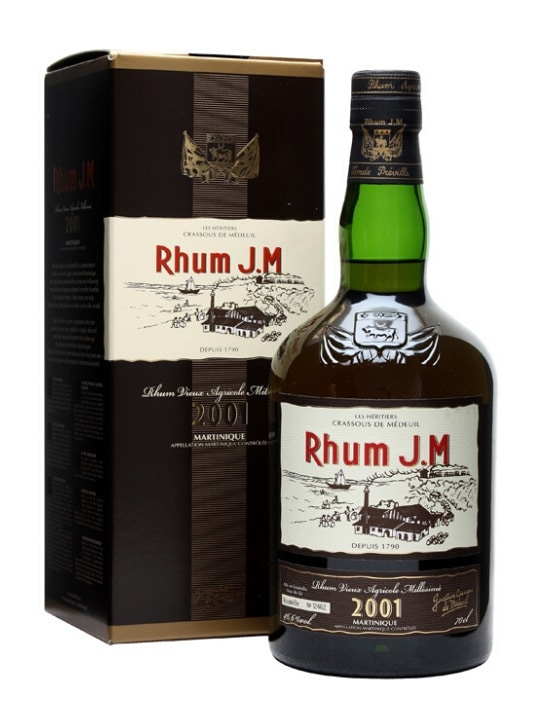 jm rhum rum 2001 70cl