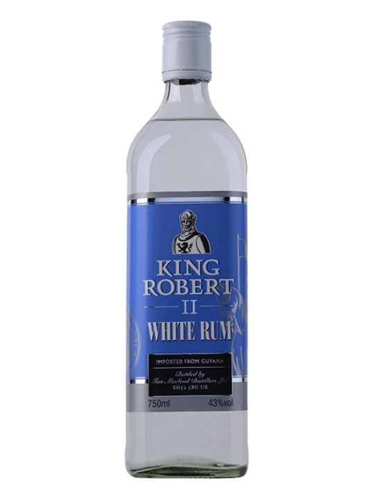 king robert white rum 43 70cl