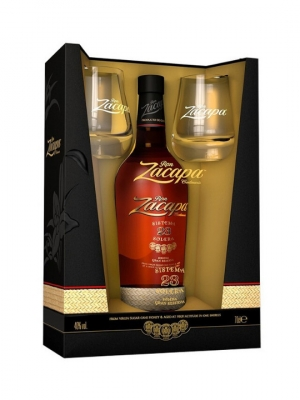 Ron Zacapa 23 Years old Gift Box + Glasses 70cl