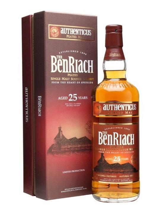benriach 25 yo authenticus single malt 70cl