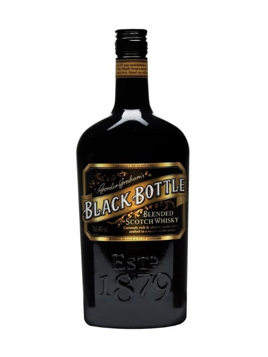 black bottle blended scotch whisky 70c