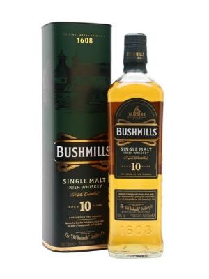 Bushmills Single Malt 10 Year Old Irish Whiskey 70cl