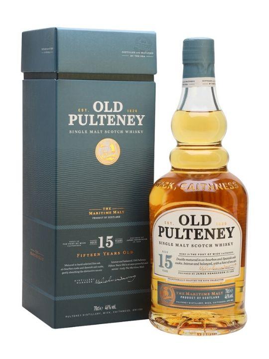 old pulteney 15 yo single malt whisky 70cl