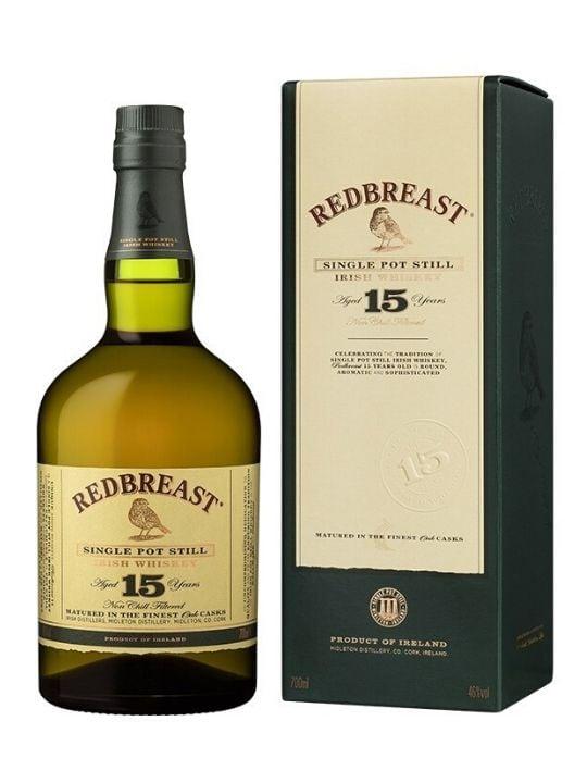 redbreast 15 yo single pot still irish whiskey 70cl