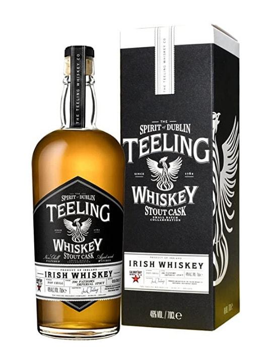 teeling stout cask irish whiskey 70cl