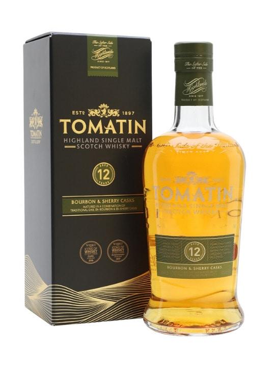 tomatin 12 yo single malt whisky 70cl