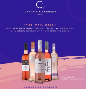 Rose` Wines Promotion – 15% off