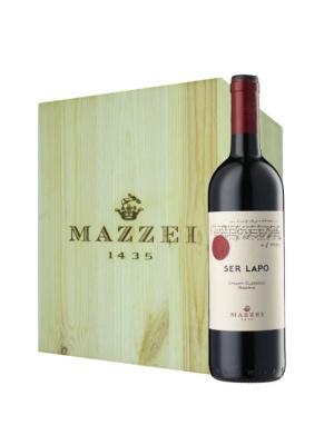 Mazzei Ser Lapo Chianti wooden box 6 x 75cl